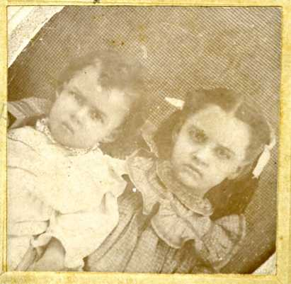 Beatrice and Ella Mae Marsalis  Photo (front) of Beatrice (b. 1892) and Ella Mae Marsalis (deceased as baby)