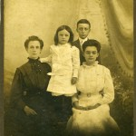 Edith with sons and daughter