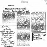 A note sent to Gordon Marsalis, who is decended and named after both Gordon and Marsalis families